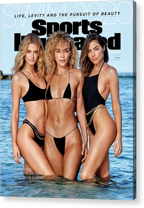 X163018_tk4_00030 Acrylic Print featuring the photograph Kate Bock Jasmine Sanders Olivia Culpo Swimsuit 2020 Sports Illustrated Cover by Sports Illustrated