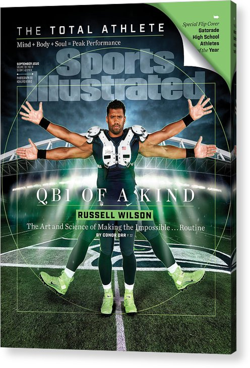Russell Wilson Acrylic Print featuring the photograph QB One of a Kind Russell Wilson Sports Illustrated Cover by Sports Illustrated