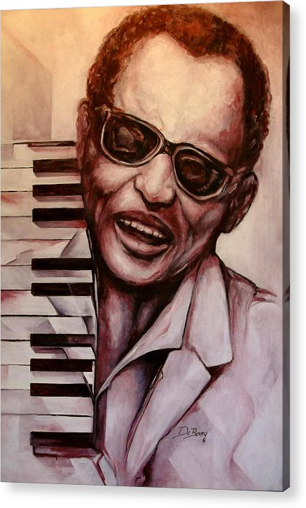 Original Fine Art By Lloyd Deberry Acrylic Print featuring the painting Ray the Print by Lloyd DeBerry