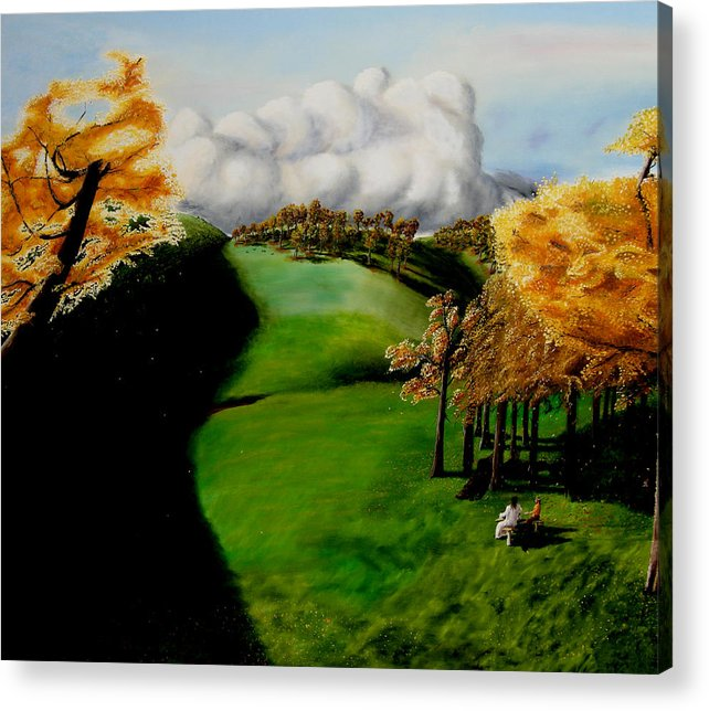 Landscape. Tea Party Acrylic Print featuring the painting Tea Party by Ivan Rijhoff