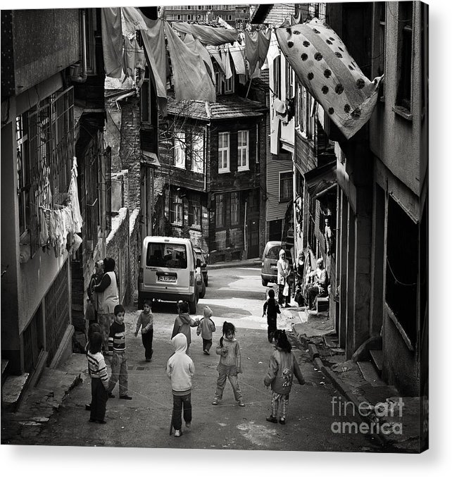 Istanbul Acrylic Print featuring the photograph No Nintendo For Them by Michel Verhoef