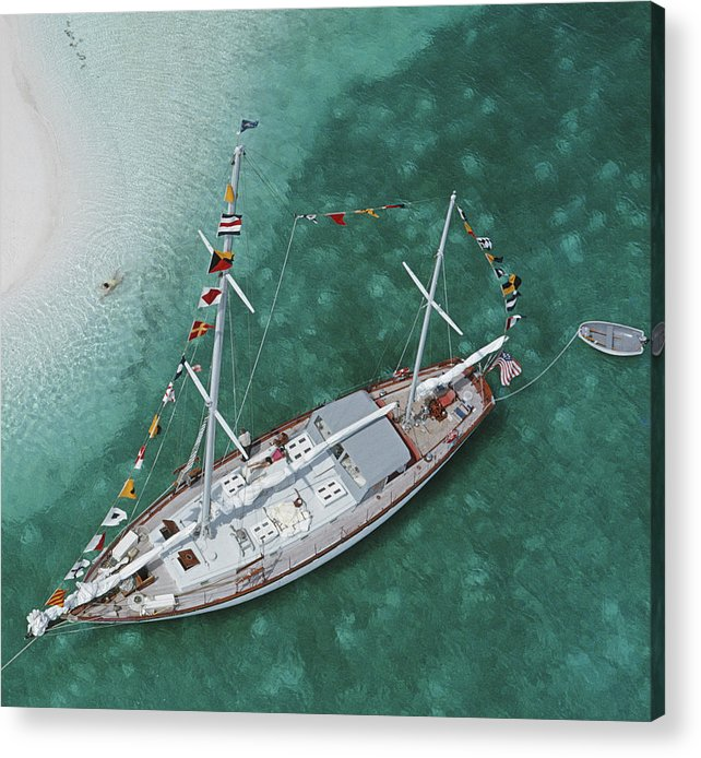 Georgetown Acrylic Print featuring the photograph Charter Ketch by Slim Aarons