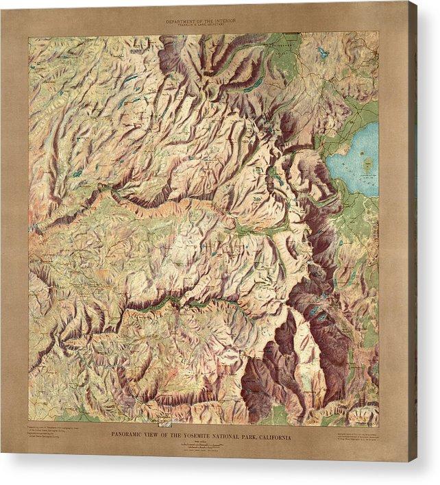 Yosemite National Park Map By The Us Geological Survey 1914 - Us-geologic-survey-maps
