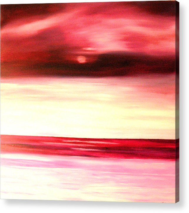 Caribbean Acrylic Print featuring the painting Sun Glow by Sula Chance