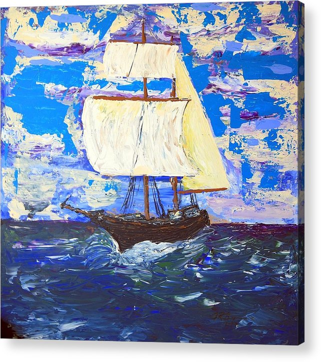 Impressionist Painting Acrylic Print featuring the painting Little Clipper by J R Seymour