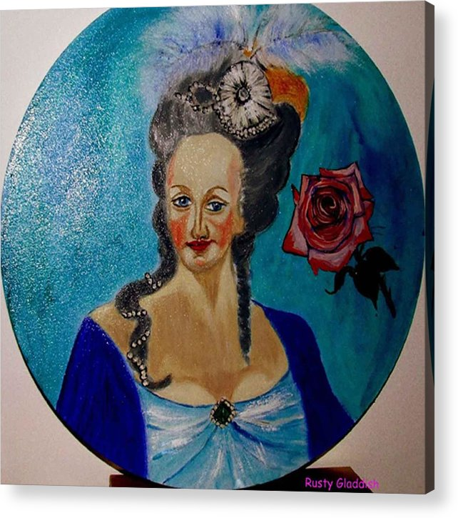 Guillotine Acrylic Print featuring the painting Marie Antoinette by Rusty Gladdish