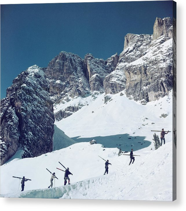 Skiing Acrylic Print featuring the photograph Cortina Dampezzo by Slim Aarons