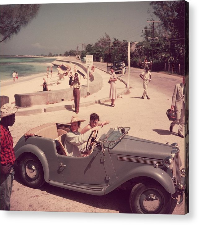 Montego Bay Acrylic Print featuring the photograph Katharine Hepburn by Slim Aarons