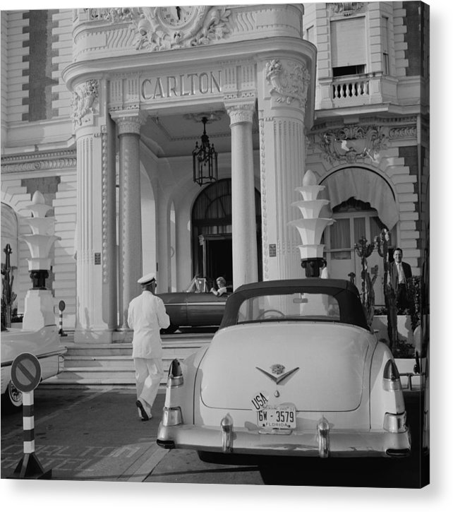 People Acrylic Print featuring the photograph The Carlton Hotel by Slim Aarons