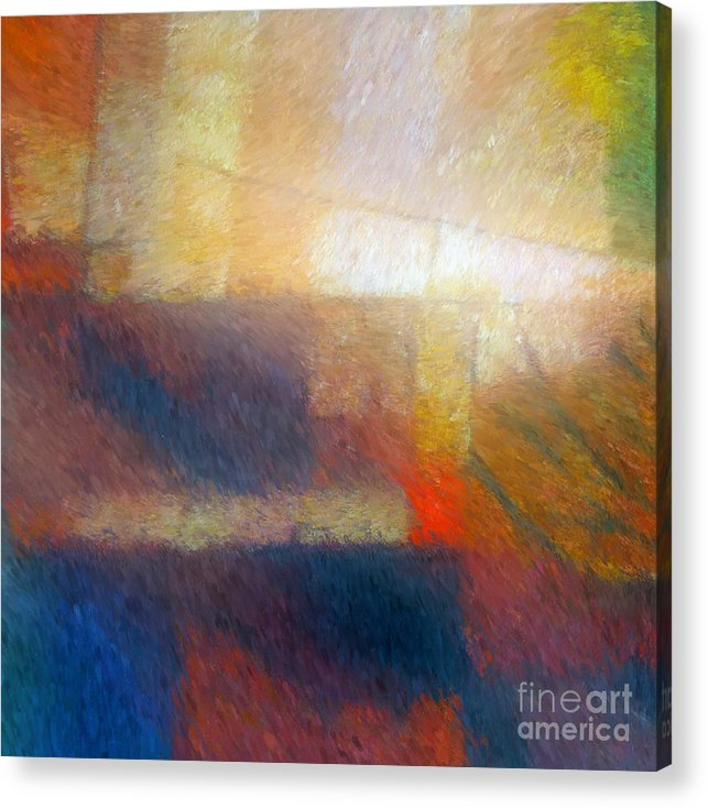 Abstract Acrylic Print featuring the painting Breaking Light by Lutz Baar