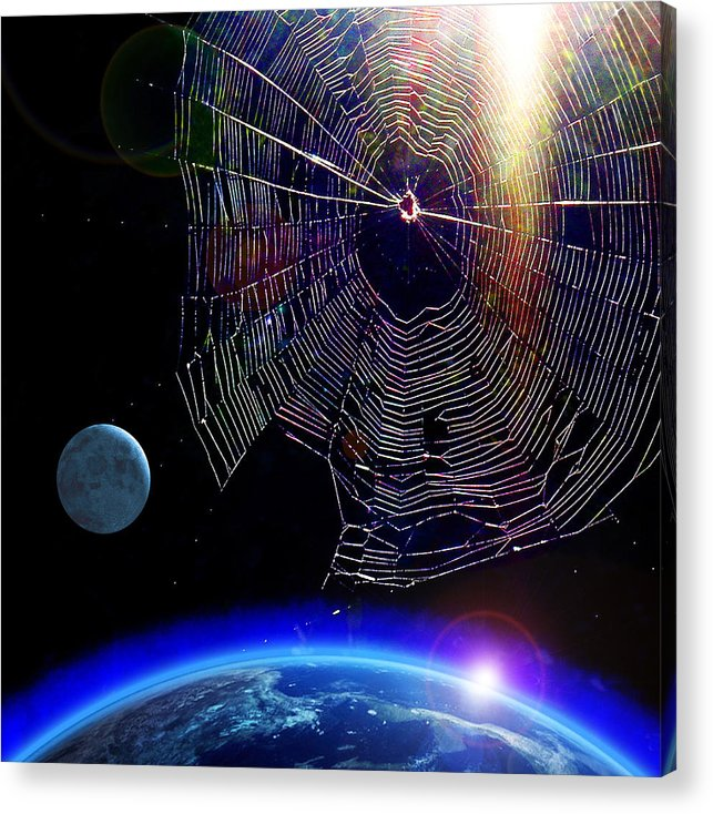 James Temple Acrylic Print featuring the photograph Spiders In Space - The Beginning Of The End by James Temple