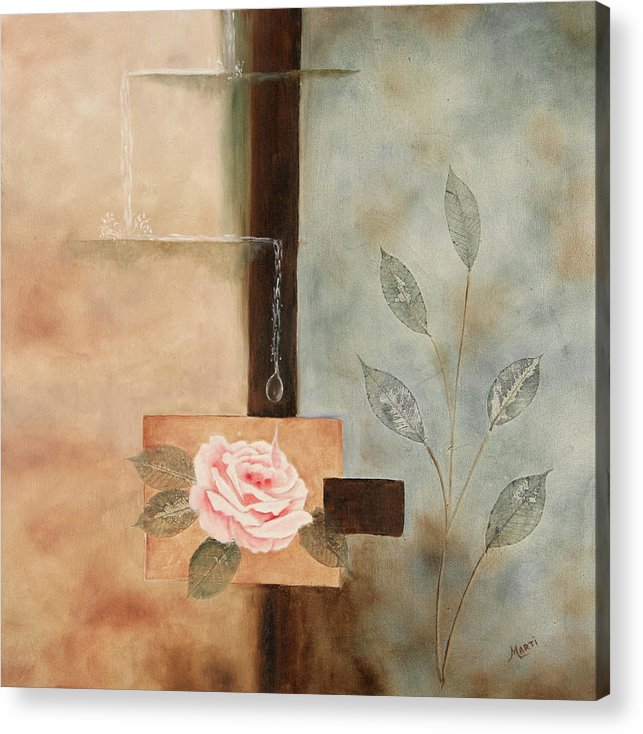 Rose Acrylic Print featuring the painting Connections by Marti Idlet