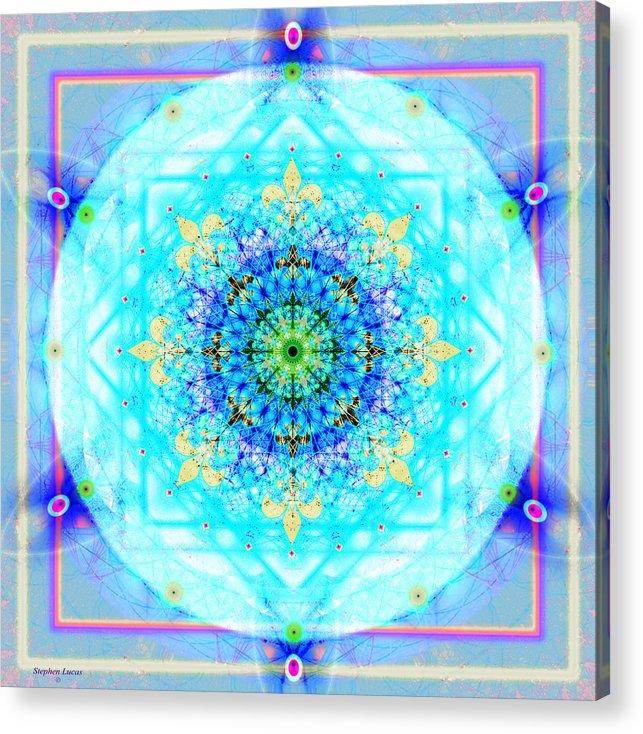 Mandala Acrylic Print featuring the digital art Mandala Of Womans Spiritual Genesis by Stephen Lucas