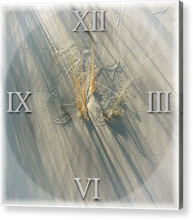 Sand Acrylic Print featuring the photograph Sand Dial by Bob Bennett