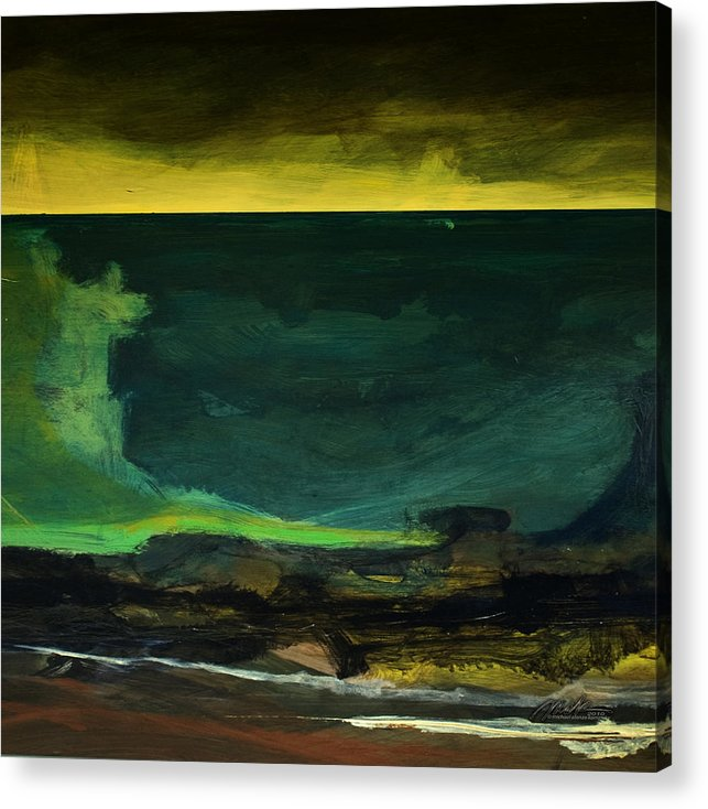 Sea Acrylic Print featuring the painting Sea Fugue 3 - Tsunami by  Michaelalonzo  Kominsky