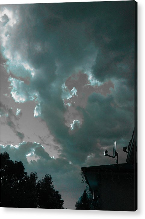 Sky Acrylic Print featuring the photograph Atmospheric Barcode 14 6 2008 2 by Donald Burroughs