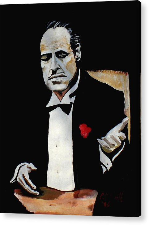 Godfather Acrylic Print featuring the painting Don by Colin O neill