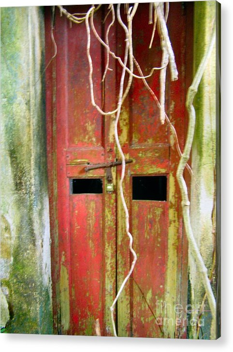 Door Acrylic Print featuring the photograph Old Chinese Village Door Eleven by Kathy Daxon