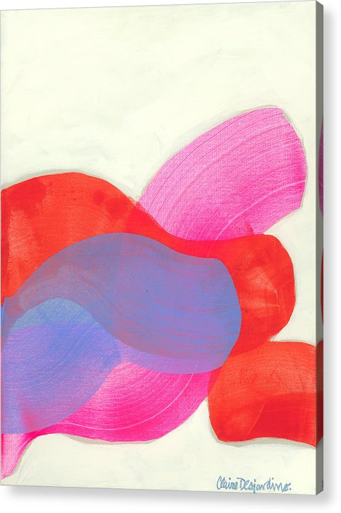 Abstract Acrylic Print featuring the painting What To Say? by Claire Desjardins