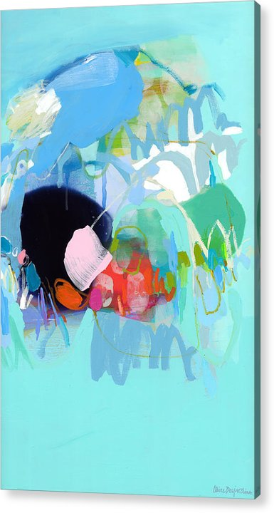 Abstract Acrylic Print featuring the painting West Coast Wanderlust by Claire Desjardins
