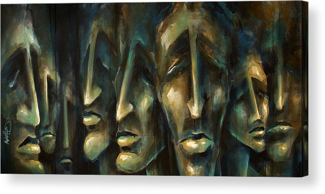 Expressionist Acrylic Print featuring the painting ' Jury Of Eight ' by Michael Lang