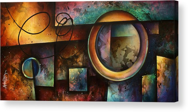 Abstract Acrylic Print featuring the painting ' The Rift ' by Michael Lang