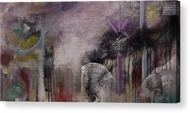 Contemporary Geometric Shapes Abstract Painting On Gallery Wrapped Canvas 1 Acrylic Print