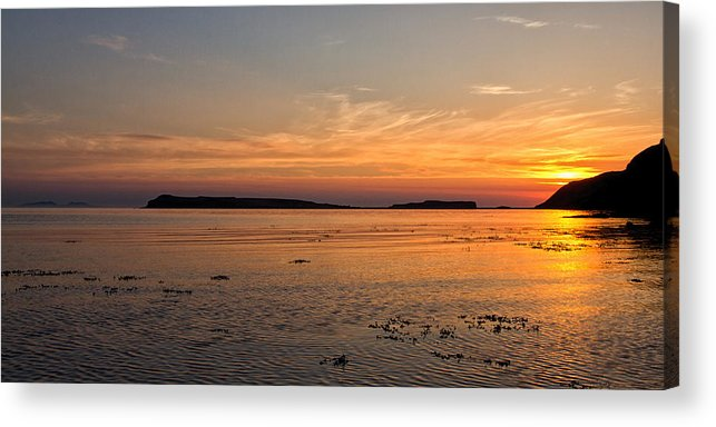 Loch Bay Acrylic Print featuring the photograph Sunset At Loch Bay by David Pringle