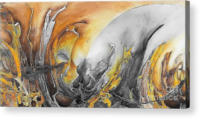 Abstract Acrylic Print featuring the painting Abstraction 587-11-13 Marucii by Marek Lutek