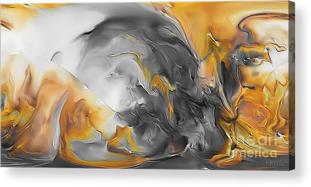 Abstract Acrylic Print featuring the painting Abstraction 590-11-13 Marucii by Marek Lutek