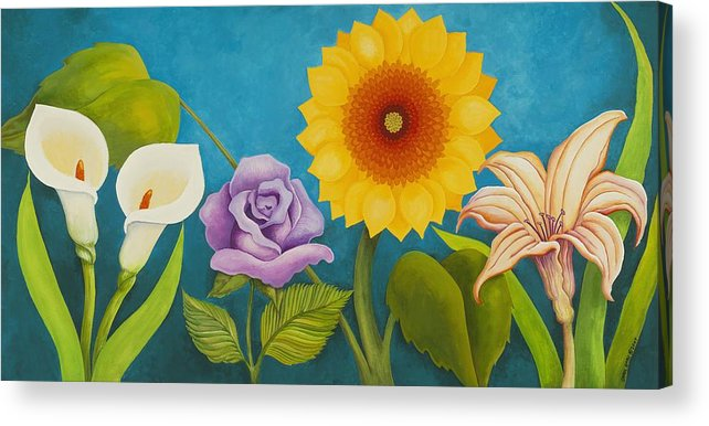 Art Acrylic Print featuring the painting Best Friends by Carol Sabo