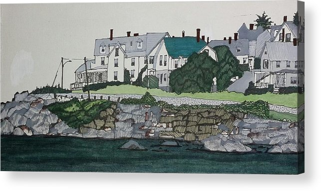 Acrylic Print featuring the painting Concordville From Short Sands by Daryl Shaw