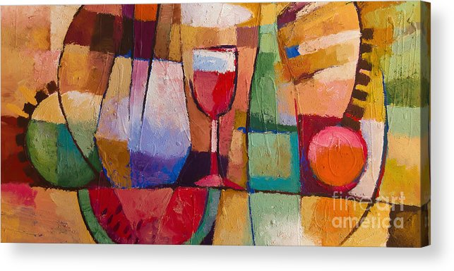 Still Life Acrylic Print featuring the painting Dining by Lutz Baar