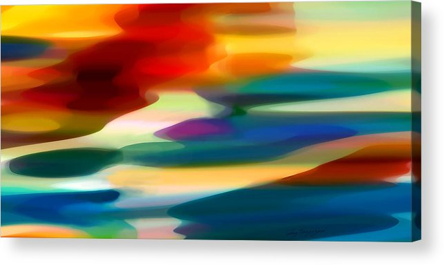 Fury Acrylic Print featuring the painting Fury Seascape by Amy Vangsgard