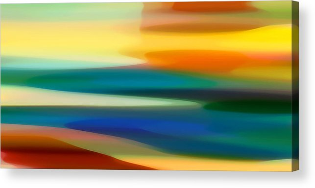 Fury Acrylic Print featuring the painting Fury Seascape II by Amy Vangsgard