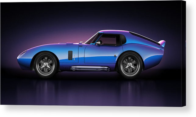 Transportation Acrylic Print featuring the digital art Shelby Daytona - Velocity by Marc Orphanos