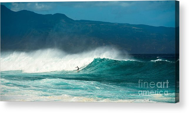 Hookipa Beach Acrylic Print featuring the photograph Sole Surfer by Jamie Pham