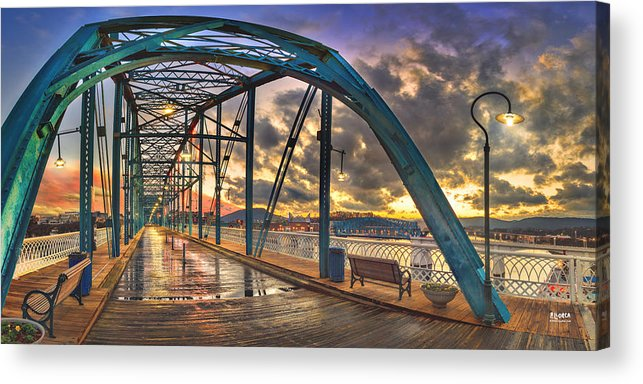 Sunset Acrylic Print featuring the photograph Sunset As I Walk by Steven Llorca
