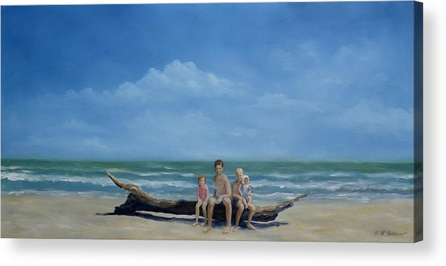 Heirloom Art Acrylic Print featuring the painting The Castaways by Karen Butcher
