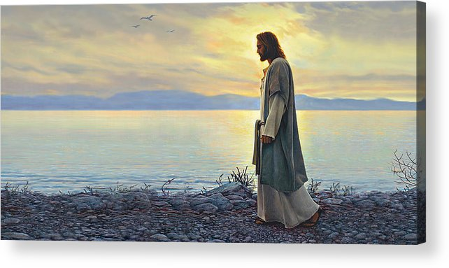 Jesus Acrylic Print featuring the painting Walk With Me by Greg Olsen