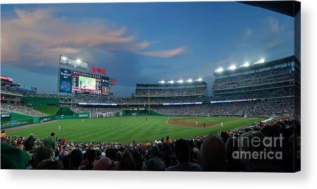 Red Sox Acrylic Print featuring the photograph Washington Nationals In Our Nations Capitol by Thomas Marchessault