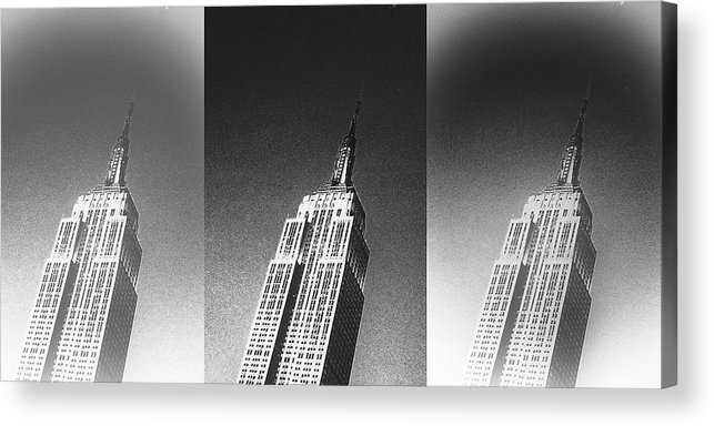 Black And White Designer Prints Acrylic Print featuring the photograph Empire State Black And White by Stephen Walker