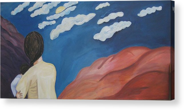 Landscape Acrylic Print featuring the painting Expulsion by Lorraine Toler