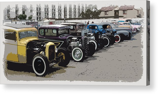 Hot Rods Acrylic Print featuring the photograph Hot Rod Row by Steve McKinzie