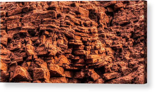 Arenite Acrylic Print featuring the photograph Sandstone Wall by Matt Dobson