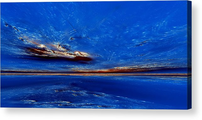 Acrylic Print featuring the digital art The Desolate Place II by Richard Ortolano