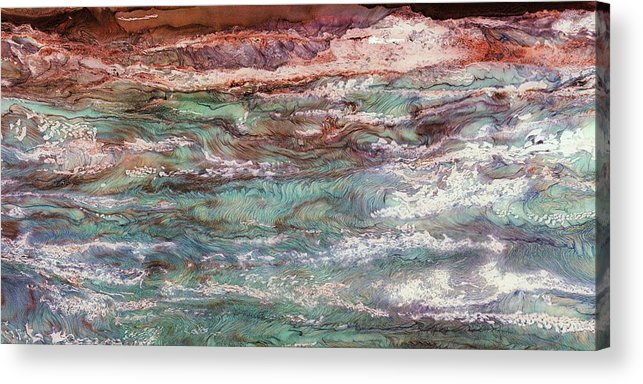 Paul Tokarski Acrylic Print featuring the photograph Costal Tides by Paul Tokarski