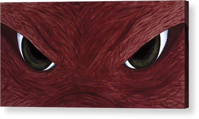Arkansas Acrylic Print featuring the painting Hog Eyes by Amy Parker Evans