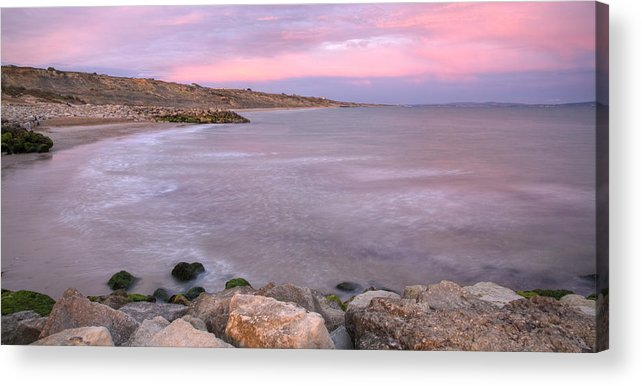 Highcliffe Acrylic Print featuring the photograph Highcliffe Beach In Dorset by Ian Middleton