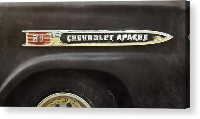 Classic Car Acrylic Print featuring the photograph 1959 Chevy Apache by Scott Norris